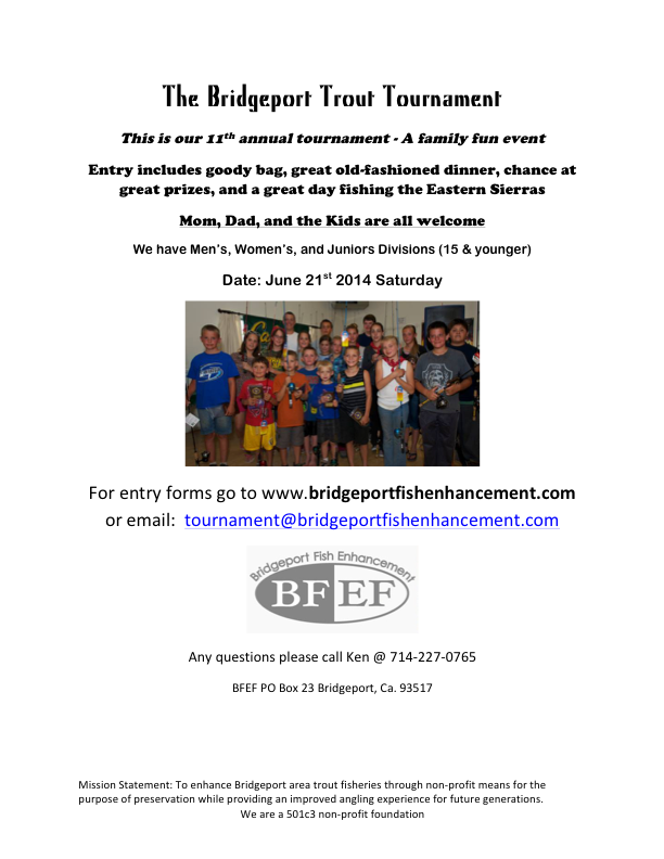 The Bridgeport Trout Tournament ad